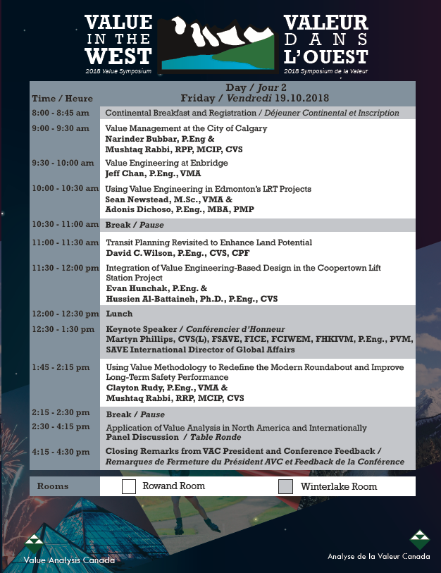 VAC Symposium 2018 - Schedule (Day 2)
