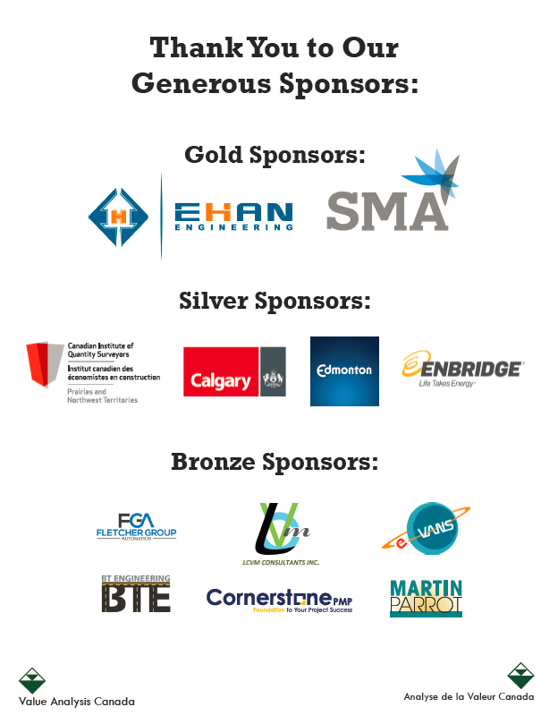 VAC Symposium 2018 - Thank You to Sponsors